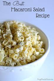 best pasta salad recipe best macaroni salad recipe frugal family home