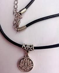 black charm choker necklace images Yoga lotus choker om choker charm choker choker jpg