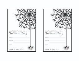 printable halloween birthday invitations festival collections