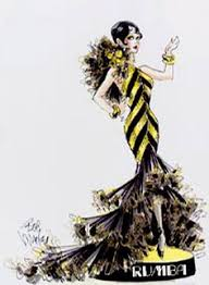 bob mackie showgirl costume sketch costume design drawing