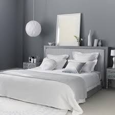 grey themes wall decoration and white beds furniture in modern