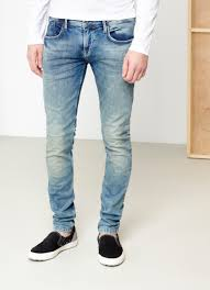 Best Shades Of Blue Men Jean Slim Fit Shades Of Blue Green Pepe Jeans London