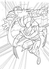 film wolverine coloring pages defeat enemy wolverine
