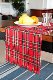 highland and black plaid table runner 16