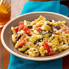 garden vegetable pasta salad recipe taste home