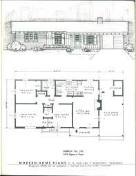 modern home blueprints modern home plans 1955 vintage house plans 1950s pinterest