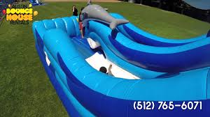 halloween bounce house rentals austin bounce house rentals dolphin splash water slide water