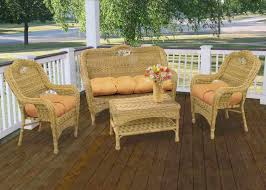 Patio Bistro Table by Nice Clearance Wicker Patio Set Gold Rectangle Modern Rattan