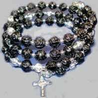 rosary bead bracelet coil rosary bracelet crucifix