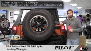 jeep jk led tail light bulb pilot automotive led tail lights for jeep wrangler youtube