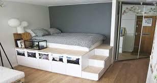 chambre estrade diy déco lit avec rangement à faire avec 3 fois rien