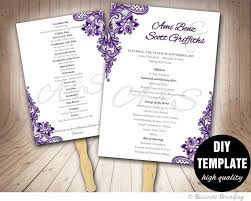 diy wedding fan programs the 25 best diy wedding program template ideas on
