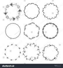 set vintage elements flowers stock vector 301173119