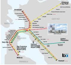 Bart San Francisco Map Stations Neighborhood Panoramic Interests