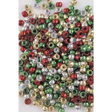 educational colours christmas pony beads 1000 pack officeworks