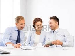 equipe bureau business teamwork and technology concept business team