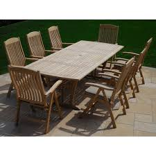 Dining Chairs With Cushions Roble Wood 9 Piece Dining Set With Cushions Free Shipping Today