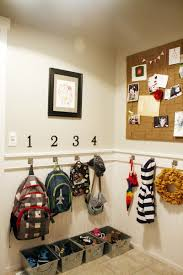 entryway backpack storage remodelaholic diy entryway mudroom with cubbies for under 150
