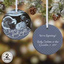 personalized christmas ornaments baby baby sonogram photo personalized christmas ornament 2 sided