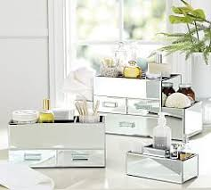 Clear Bathroom Accessories by Bathroom Canisters U0026 Accessories Pottery Barn