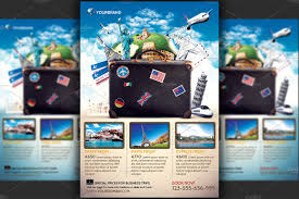 travel company images Travel agency promotional flyer temp flyer templates creative jpg