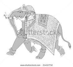 drawn asian elephant cartoon pencil and in color drawn asian