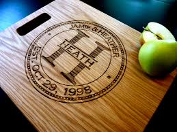 personalized engraved cutting board custom cutting board home design and decorating
