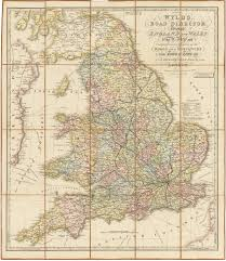 Map Of England And Ireland by Antique Traveler U0027s Case Map Of England U0026 Wales By James Wyld 1838
