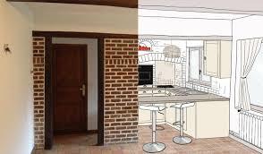 cuisine en brique rénovation cuisine repeindre des briques et créer une cuisine