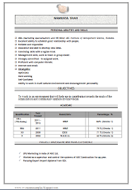 Download Fresher Resume Format Over 10000 Cv And Resume Samples With Free Download Mba Marketing