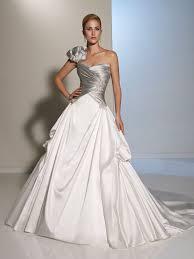 silver wedding dress white and silver wedding dresses weddingcafeny