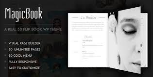 magicbook a 3d flip book wordpress theme wordpress and premium