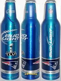 bud light aluminum bottles nfl denver broncos 2016 super bowl nfl football bud light aluminum beer