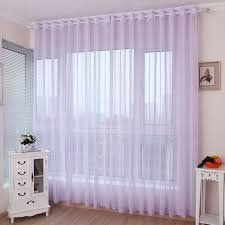 romantic light purple lavender sheer curtains for girls bedrooms