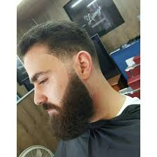 barber jorge in action skin taper with beard lineup yelp