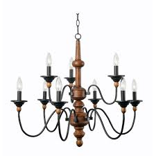 Antique Wood Chandelier Kenroy Home Madeline 9 Light Wood Chandelier 93529lwg The Home Depot