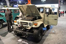 icon fj43 fj company u0027s meticulously restored toyotas impress at sema off