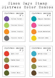 color combos distress color combos simon says st blog
