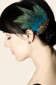 feather hair accessories e kammeyer accessories deco beaded applique and feather hair