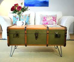 Vintage Trunk Coffee Table Antique Trunk Coffee Table View In Gallery Trunk Complete With