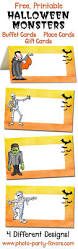 free printable monsters halloween buffet cards label your scarey