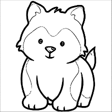 husky puppy coloring free download