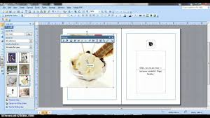 Make A Invitation Card Ms Publisher Birthday Card Youtube