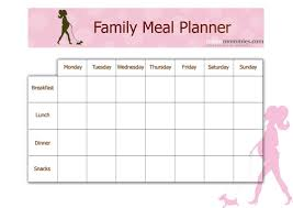 diet planner template family meal planner urban mommies