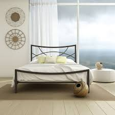 stunning metal headboard and footboard queen size sturdy metal bed