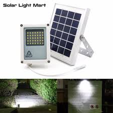 solar powered led flood lights mini alpha 180x 35led 60 230lm 3 power modes 5 meters cable