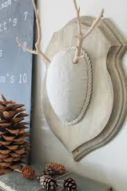 decorations fake deer antlers for create swanky ranch style home