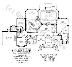 beau villa house plan house plans by garrell associates inc