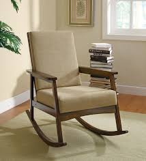 Wooden Rocking Chairs Nursery Furniture Rocking Chair Upholstered Armchair Chairs For
