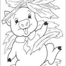 pigs wait big bad wolf coloring pages hellokids